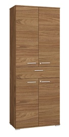 Skapis ML Meble Optimal 02 Walnut, 79x41x204 cm