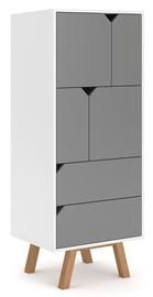 Гардероб Vivaldi Meble Tokio TK4 White/Grey Mat, 157x42x140 см