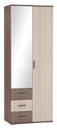 DSV Ronda ŠKR800.3 Wardrobe Light/Dark Ash Shimo