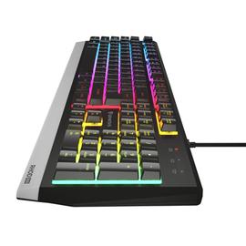 Klaviatūra Genesis Rhod 300 EN/RU, melna
