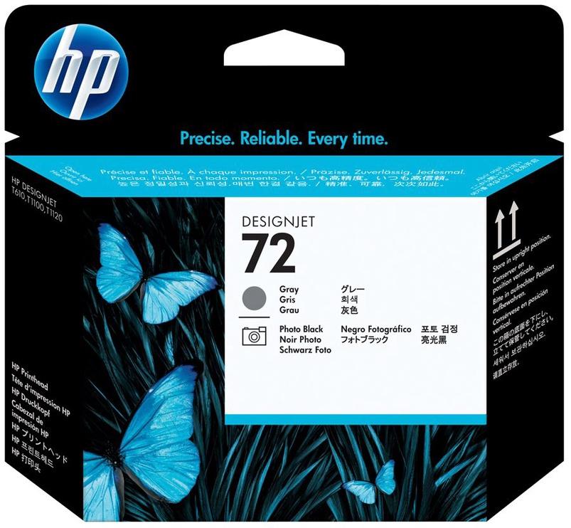 HP NO 72 Printhead Grey/Black Pack