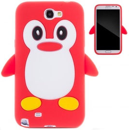 Zooky Soft 3D Cover Samsung N7100 Galaxy Note 2 Penguin Red