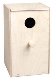 Flamingo Wooden Nest Box For Parakeets 100810 Beige