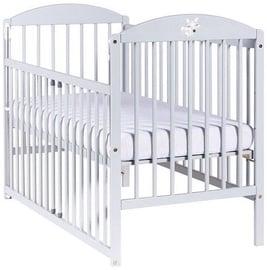 Bērnu gulta Drewex Lisek Light Grey, 124x65 cm