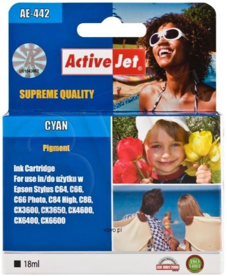 ActiveJet AE-442 Cartridge 18ml Cyan