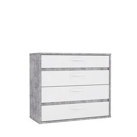 Kumode Forte CANMORE, balta/pelēka, 86.3x41.5x99.5 cm