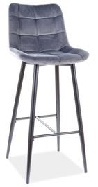 Барный стул Signal Meble Modern Chic H-1 Velvet, черный/серый