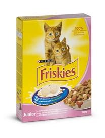 Sausā kaķu barība Friskies Junior with Chicken Milk and Vegetables 300g
