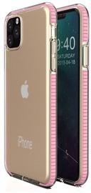 TakeMe Transparent Back Case With Color Frame For Apple iPhone 11 Pro Light Pink