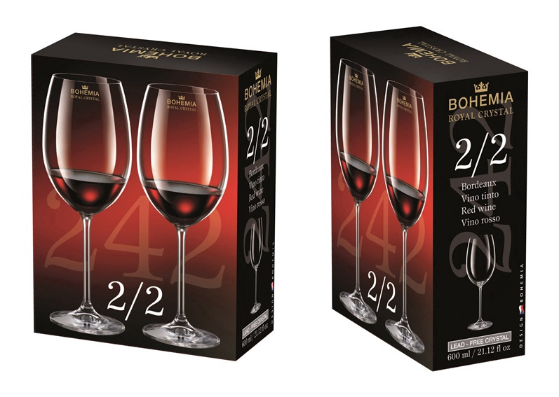 Бокал для вина Bohemia Royal Crystal 2for2, 0.6 л, 2 шт.
