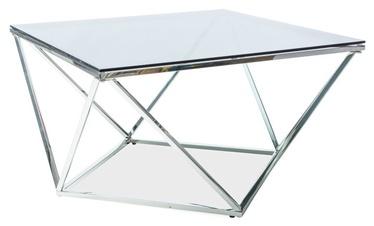 Kafijas galdiņš Signal Meble Silver A Silver, 800x800x450 mm