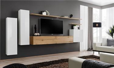 Dzīvojamās istabas mēbeļu komplekts ASM Switch I Wotan Oak/White