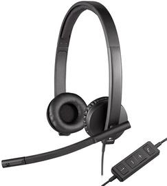 Наушники Logitech H570e, черный (поврежденная упаковка)