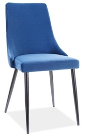Ēdamistabas krēsls Signal Meble Modern Piano B Velvet, zila