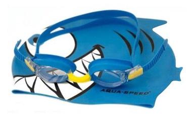 Aqua Speed Swimming Pool Glass Fish + Blue Cap Kit