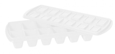 Plast Team Ice Cube Tray With Lid 23.9x9.8x3.8cm White
