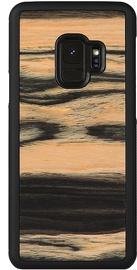 Man&Wood White Ebony Back Case For Samsung Galaxy S9 Black