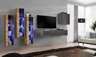 Dzīvojamās istabas mēbeļu komplekts ASM Switch XIII, pelēka