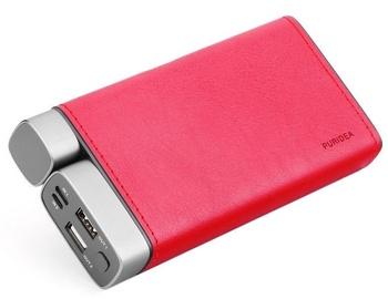 Ārējs akumulators Puridea X02 Red, 20000 mAh