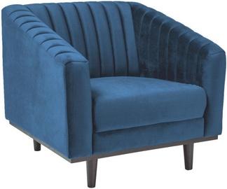 Atzveltnes krēsls Signal Meble Asprey 1 Velvet Navy Blue/Wenge, 83x78x60 cm