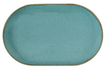 Porland Seasons Oval Plate 20x32cm Turquoise