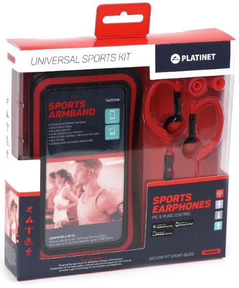 Наушники Platinet 2in1 Sport Red