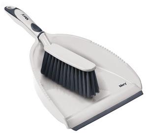 Mery Dustpan With Brush 34x23cm Grey