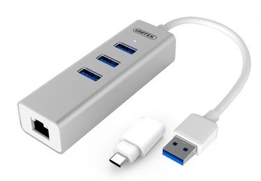 Unitek Y-3083B Hub 3x USB3.0 + USB Typ-C + RJ45