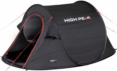 3-местная палатка High Peak Vision 3, черный