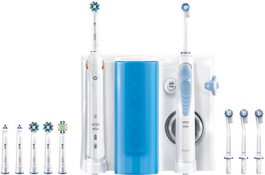 Braun Oral-B Rotating Oscillating Toothbrush Smart 5000 Oxyjet Adult Blue White