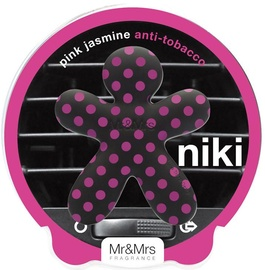 Mr & Mrs Fragrance Niki Car Air Freshener 1pc Pink Jasmine Anti-Tobacco