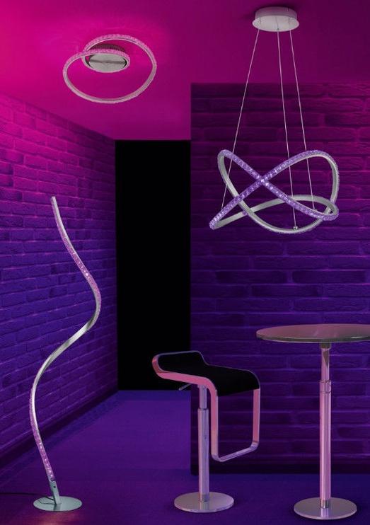 Iebūvēts Trio Rubin LED RGB gaismeklis, 9W, 700lm, vadības panelis