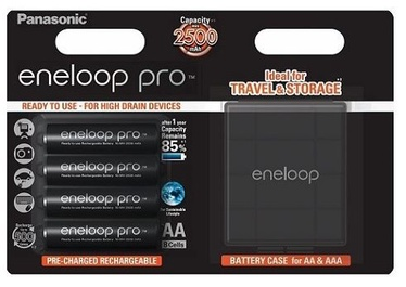 Panasonic Batteries Eneloop AA 4pcs + Rechargeable Box