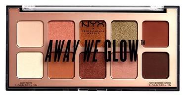 Тени для глаз NYX Away We Glow Shadow Palette Hooked On Glow, 10x1 г