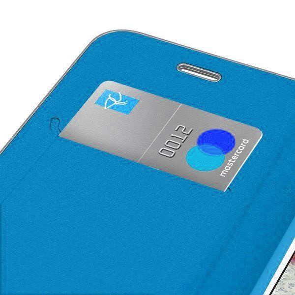 Mocco Carbon Leather Book Case For Apple iPhone X/XS Blue