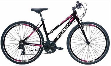 """Velosipēds Stucchi Kross WX400, melna/rozā, 18"""", 28"""""""