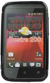 Forcell Back Case S-Line for HTC Desire 200 Black