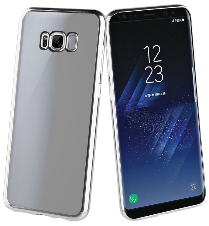 Muvit Coque Bling Back Cover For Samsung Galaxy S8 Plus Silver