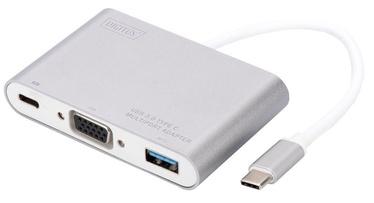 Digitus Adapter USB-C / USB / VGA