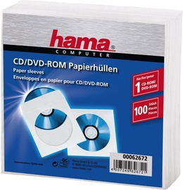 Hama CD/DVD Paper Sleeves 100pcs.