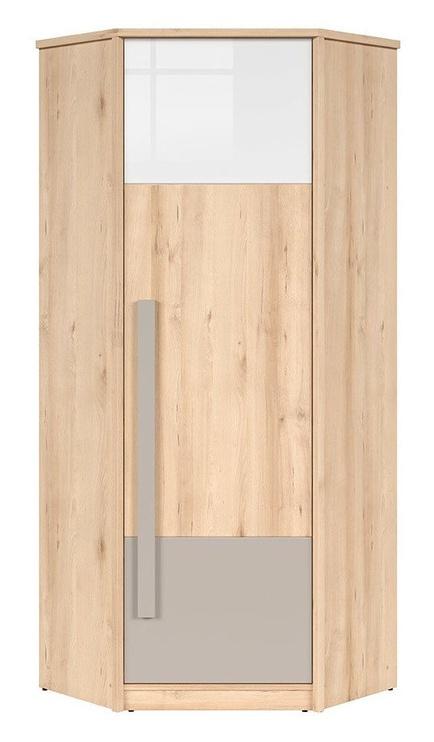 Skapis Black Red White Namek Beech/White/Grey, 79.5x79.5x198.5 cm