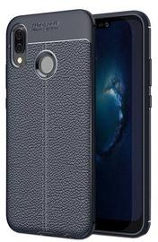 Hurtel Litchi Pattern Back Case For Huawei P20 Lite Blue