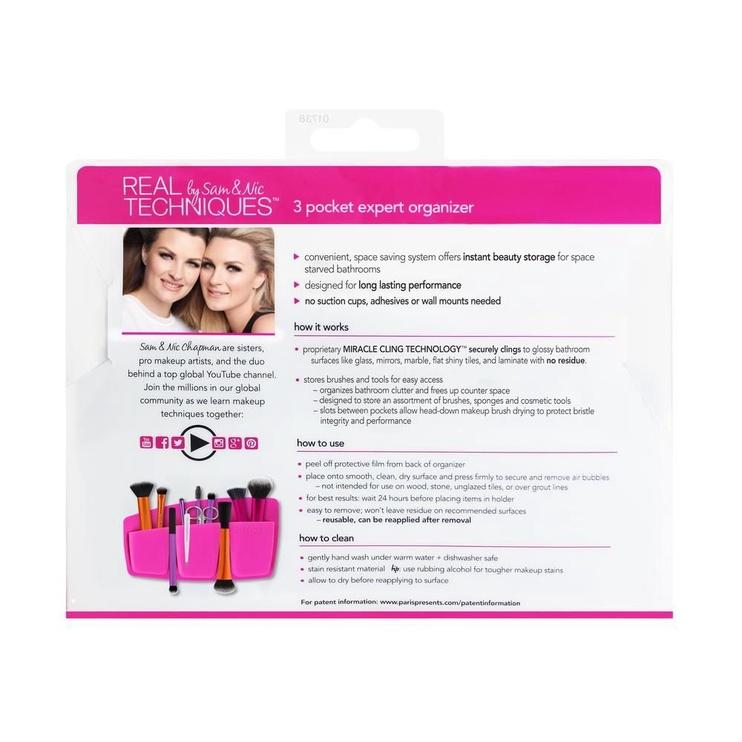 Real Techniques 3 Pocket Expert Organiser Pink