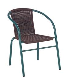 Halmar Grand Garden Chair Dark Green/Brown