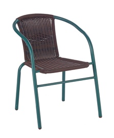 Dārza krēsls Halmar Grand Dark Green/Brown