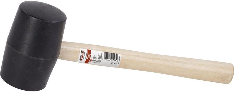 Kreator Rubber Hammer Wood 450g Black