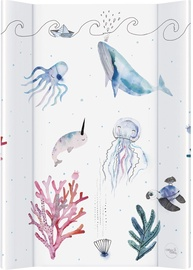 Пеленальный матрас Ceba Baby Watercolor World Ocean, 70x50 см
