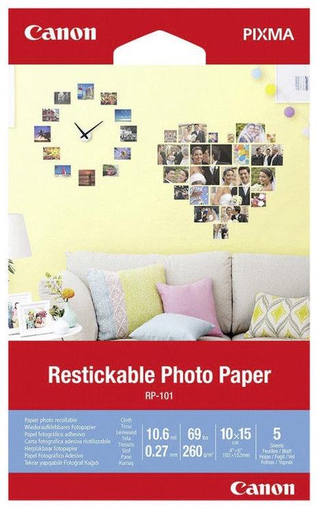 Фотобумага Canon RP-101 Restickable Photo Paper 10x15 5pcs