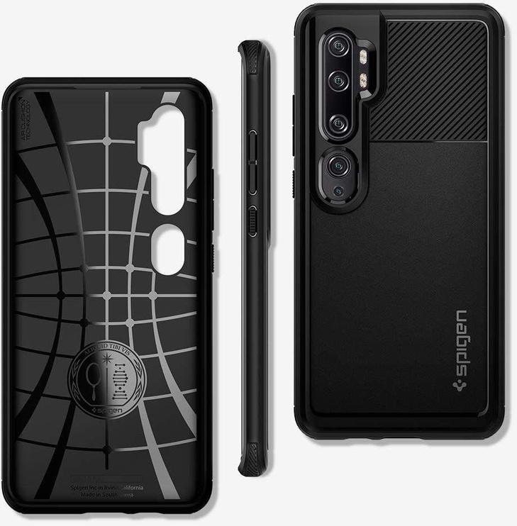 Spigen Rugged Armor Back Case For Xiaomi Mi Note 10/10 Pro Matte Black