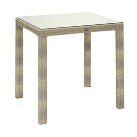 Dārza galds Home4you Wicker Beige, 73 x 73 x 71 cm